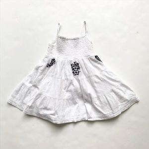 Carters guazy smocked embroidered dress EUC 24m
